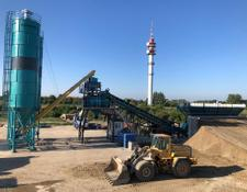 Constmach concrete plant 120 m3/h CAPACITY MOBILE CONCRETE PLANT WITH HORIZONTAL CEMENT S