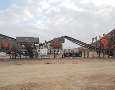 Constmach crushing plant 120-150 tph CAPACITY MOBILE JAW and IMPACT CRUSHER